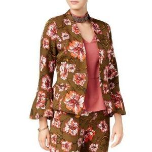 XOXO vintage bell sleeve floral jacket